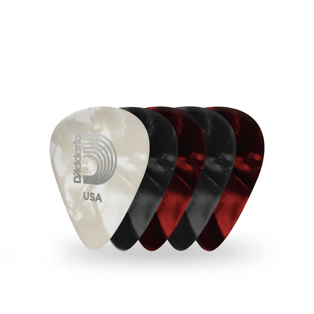 Heavy 25 pack D/'Addario Black Pearl Celluloid Guitar Picks