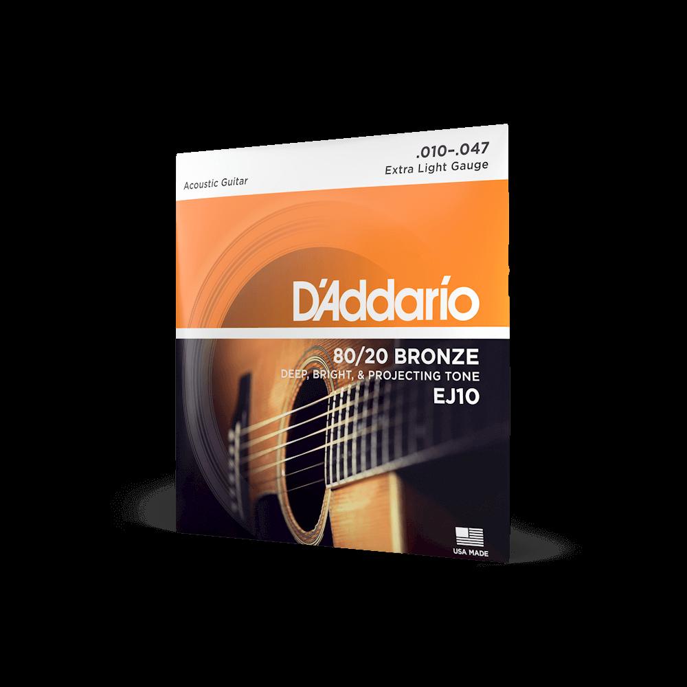 Ej10 80 20 Bronze Acoustic Guitar Strings D Addario