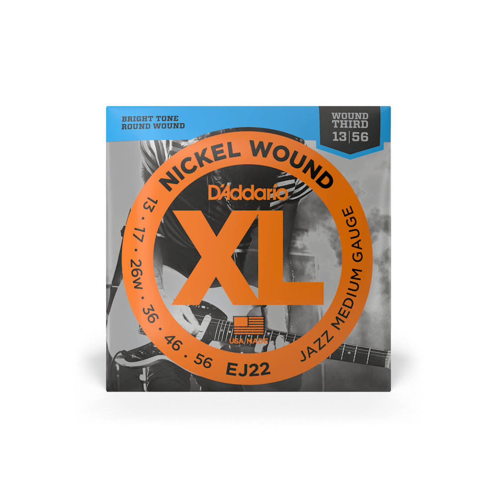 10 Sets D/'Addario EJ22  Nickle Wound Jazz Medium Electric Guitar Strings 13-56