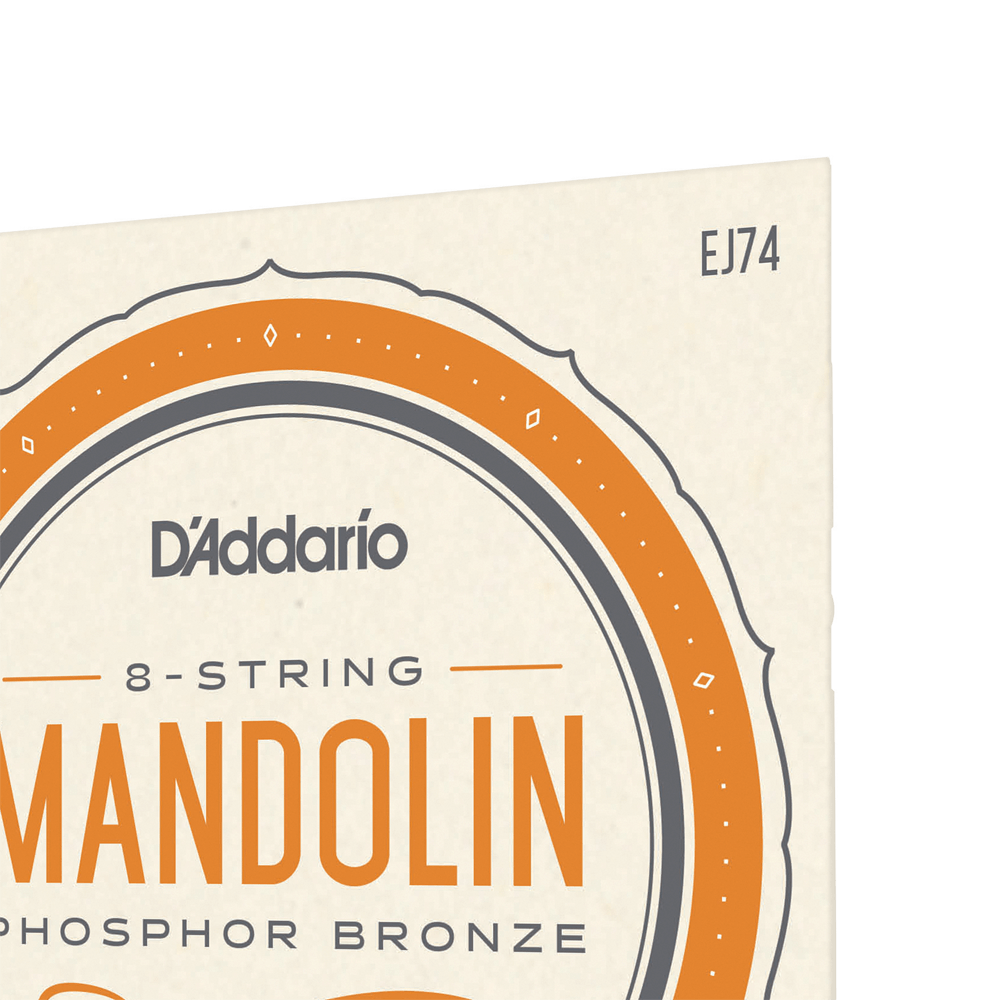 D/'Addario EJ74 Phosphor Bronze Mandolin String Set Medium 11-40
