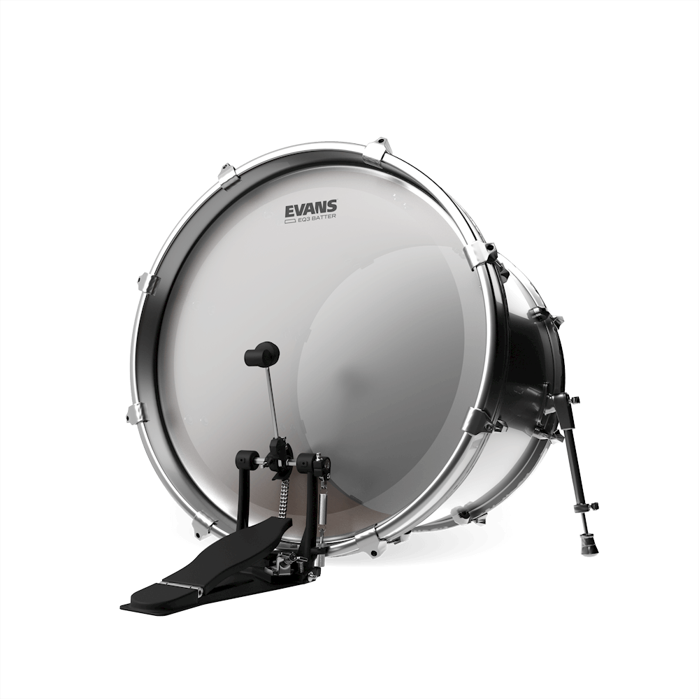 22 Inch Evans EQ3 Frosted Bass Drum Head