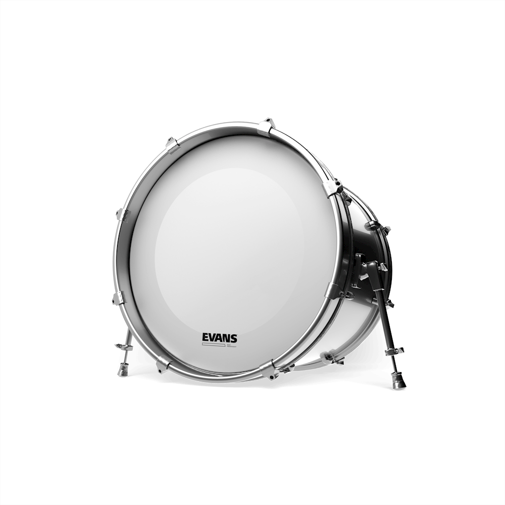 Evans EQ3 Resonant Smooth White Bass Drum Head No Port 18 Inch