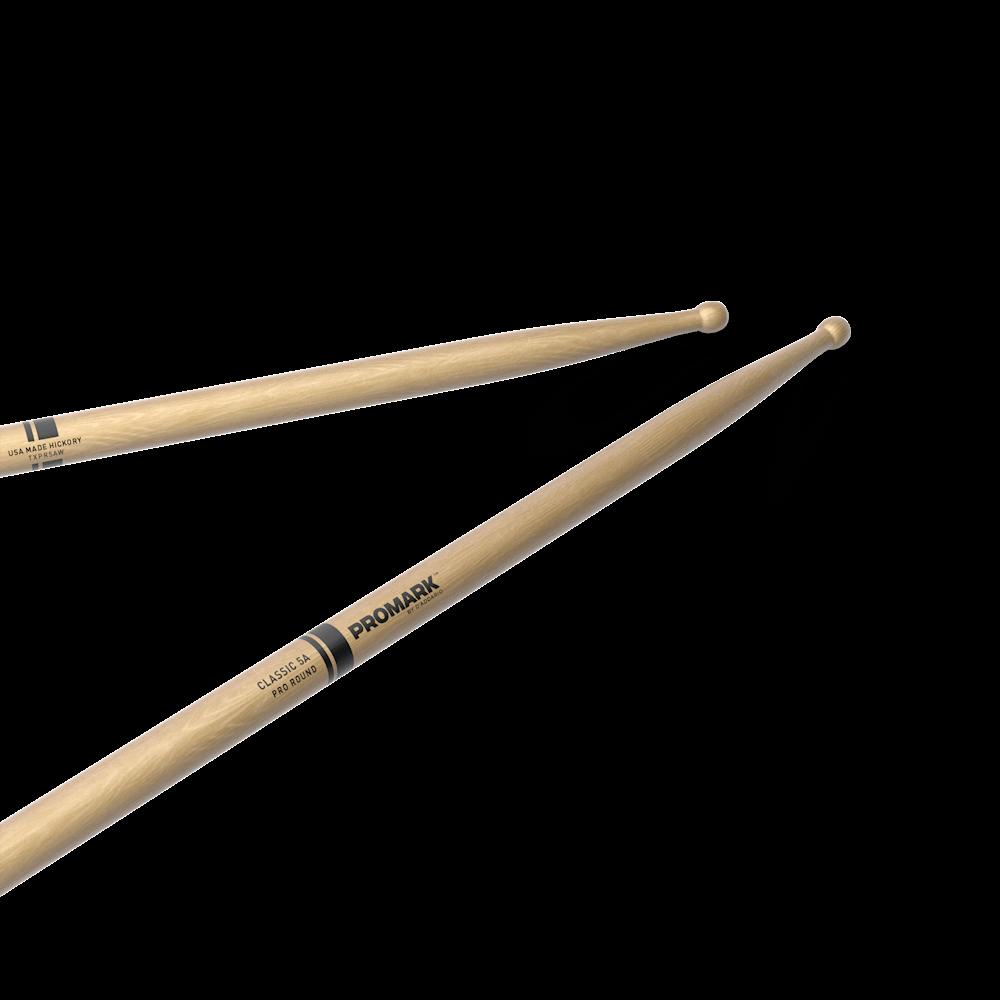 Promark American Hickory 5A Pro-Round Drum Sticks